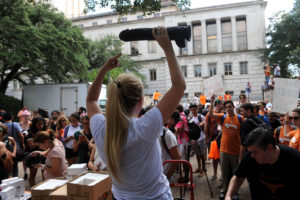 Cocks Not Glocks demonstration at UT on August 24, 2016